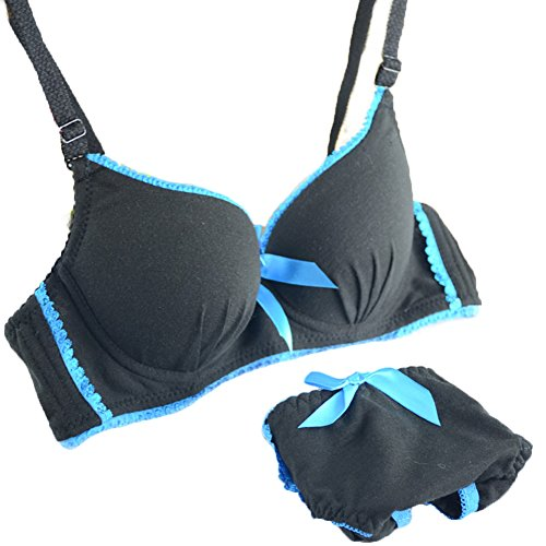 Brightup Frauen Push-Up BH Sets Under Padded Wäsche-Unterwäsche-Outfits Bra + Panties (Unterwäsche Padded-bh)