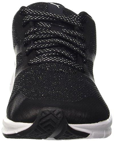 Puma Flexracer Gleam Wns, Sneaker Donna Nero/Argento
