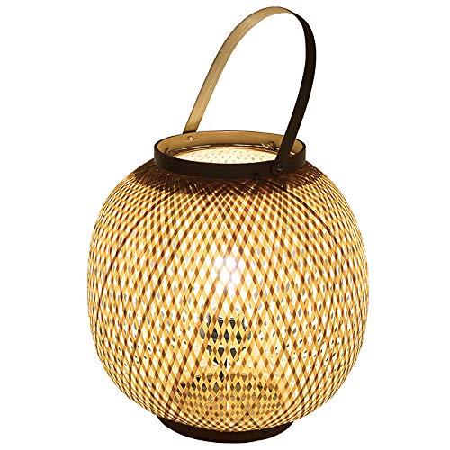 yzptd lampada da tavolo cinese bambù arte giardino di bambù ristorante ristorante camera da letto balcone lampada lanterna giapponese a mano