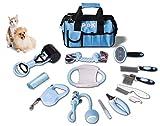 15 teiliges blau Hundepflegeset Tierpflegeset Fellpflege Krallenpflege Hundespielzeug