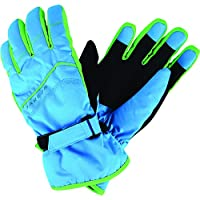 Dare 2b Flag Down II Insulated and Waterproof Kids Winter Ski Guantes, Infantil, Fluro Blue, Size 8-10