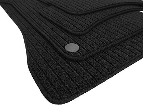 kfzpremiumteile24 Fußmatten / Velours RIPS Automatten Original Qualität Stoffmatten 4-teilig schwarz Einfassung
