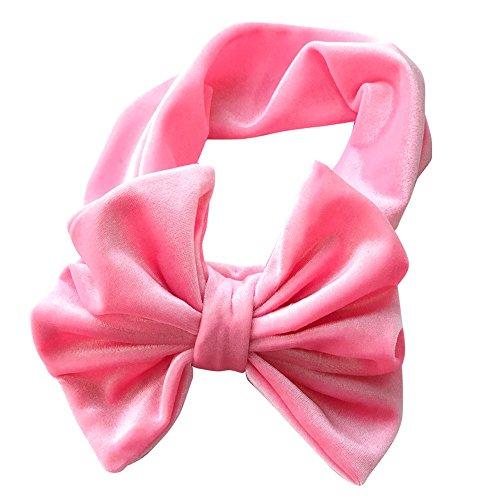VENMO 1 Stück Cute Baby Kleinkind Infant Bowknot Stirnband Stretch Haarband Headwear Stirnband mehrfarbig und blumenreich elastisch Haarband Fliege Schleife für Kinder Mädchen (Watermelon)