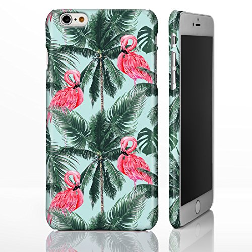 Botanical Tropical Hawaiian Blumen Hawaiian Telefon Fällen für iPhone Modelle, plastik, 16: Flamingo Palm Trees on Pale Green, iPhone 6 / 6S - Slim Case 16: Flamingo Palm Trees on Pale Green