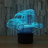 Schwere lkw 3d nachtlicht auto lampe usb 7 farben ändern touch schalter led innen schlafzimmer lampe party decor lampe