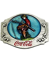 Coca Cola Belt Buckle Boy & Dog Fishing - Multi Coloured - Authentic Officially Licensed Product