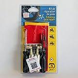 EZ SEAL 115333 Kit pour Réparer la Crevaison Par Clou ou Vis sur Pneu Tubeless avec Accessoire de Gonflage
