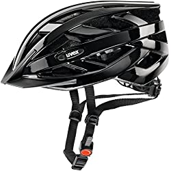 Uvex I-Vo Casco de Ciclismo, Unisex Adulto, Negro, 56-60 cm
