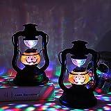 Nwlgl Party- Halloween Laterne Retro LED Licht Deko für Innen und Außen Party Garten Dekoration