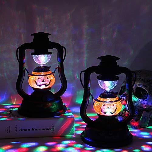 Nwlgl Party- Halloween Laterne Retro LED Licht Deko für Innen und Außen Party Garten Dekoration -