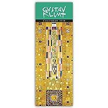 Gustav Klimt 2018: Original Flame Tree Publishing-Kalender Slimeline [Kalender] (Wall-Kalender)