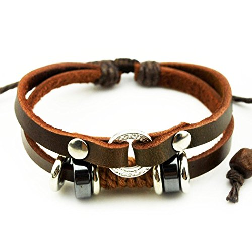 mehr-spass-fashion-charm-ring-schliesse-2-reihig-braun-leder-lange-verstellbar-wickelarmband