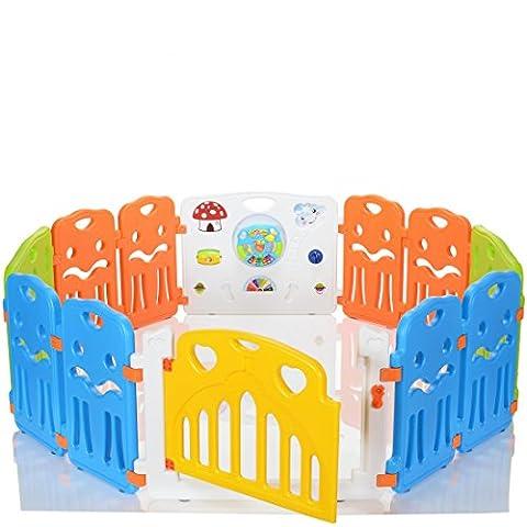 LCP Kids CORRAL Parc Bebe à 12 côtés avec porte