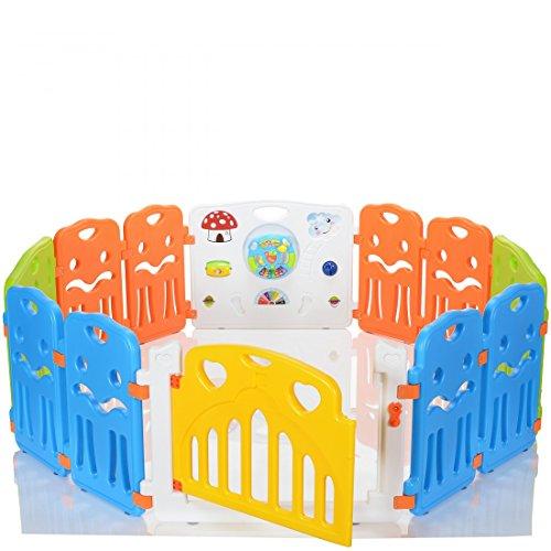 este parque infantil de bebs tiene lindos colores y diseos con puerta incluida y juguetes integrados para el disfrute de tu beb