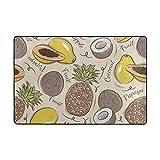 DEZIRO Fußmatte, Ananas und Papaya, Polyester, lustig, Fußmatte, Fußmatte, Fußmatte, Hausdekor, Schuhe, Schaber, Rutschfest, waschbar, Polyester, 1, 72 x 48 inch