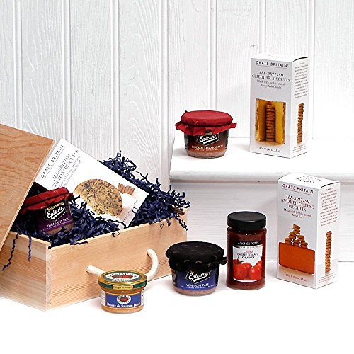 Gourmet P�t� Food Box Wooden Gift Hamper - Gift ideas for Birthday, Christmas, Anniversary and Corporate Gifts