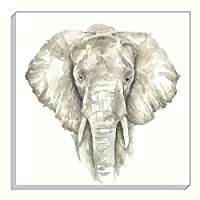 Evans Lichfield Safari Elephant Grey Gold Mink Canvas Wall Art Picture 40cm from Evans Lichfield