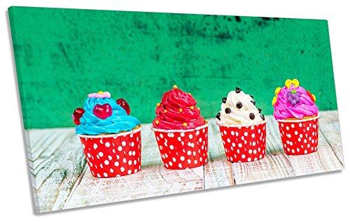 Leinwand Geeks-Tasse Kuchen Shabby Chic-180cm breit x 90cm hoch Box Rahmen Leinwand Kunstdruck Panorama Bild