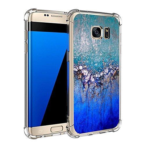 Samsung Galaxy S7 / S7 Edge Hülle Silikon Pacyer® cover Bumper Case [Ultra Dünn] Stoßfest Marmor grau braun hellblau TPU Schutzhülle Anti-Scratch Anti-Rutsch Handyhülle (6, Galaxy S7 Edge)