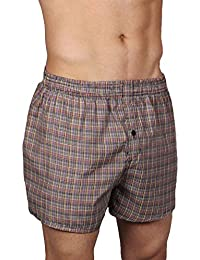 Neska Moda Men's Cotton Multicolor Boxer With 1 Back Pocket
