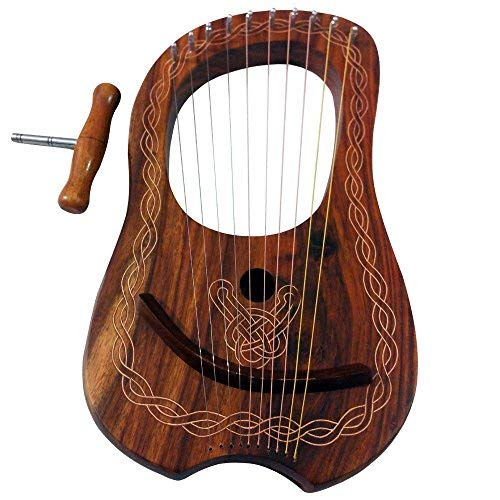 Lyre Harp 10 Metal Strings Rosew...