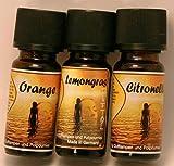 Duftöl Set 3 er Set Zitrus mit Orange