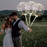 LED-Ballon-Abstand, wiederverwendbar, leuchtende LED-Ballon, transparent, runde Luftblasen-Dekoration, Party, Hochzeit