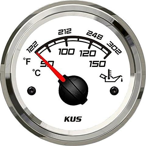 Kus Öl Temperatur Messgerät 50–150°C mit Hintergrundbeleuchtung 52mm Sq Serie