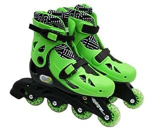 Elektra In Line Skates (Medium, Green)