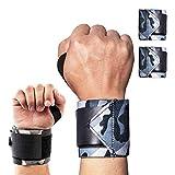 Handgelenk Bandagen [2er Set] 45cm Verstellbare Handgelenkbandage für Fitness, Bodybuilding, Krafttraining und Crossfit - Wrist Wraps für Damen und Herren, Camouflage (1 Paar A)