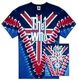 Old Glory Herren The Who-Long Live-Rock Batik-T-Shirt, Rot - Rot, xl