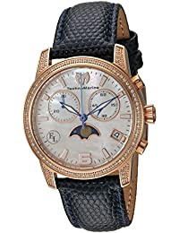 Technomarine Women's 'Eva Longoria' Quartz Stainless Steel and Leather Casual Watch, Color Blue (Model: TM-416018)