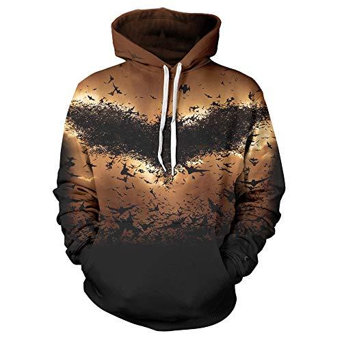 comechen Herren Sweatjacke Hoodie Kapuzenjacke Sweatshirt Kapuzenpullover,Bat Baseball Uniform Print Pullover braun kid2
