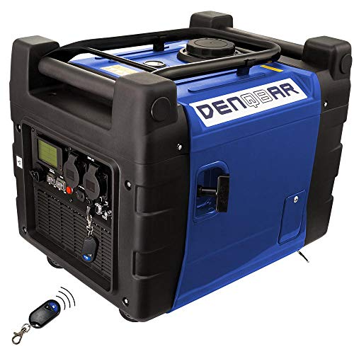 DENQBAR 3,6 kW Inverter Stromerzeuger Notstromaggregat Stromaggregat Digitaler Generator benzinbetrieben DQ3600ER mit E-Start und Funk Digital Inverter Generator