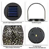 Solarlaterne für außen, Tomshine Dekorative Solarlampe Garten Laterne, IP44 Wasserdicht LED Solar Laterne Dekolampe für Draussen - 8