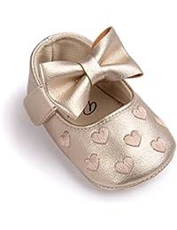 Zapatos de bebé,Auxma Niña Bowknot Zapatos de Cuero Zapatillas Antideslizante Suave niño único para