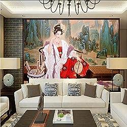 Benutzerdefinierte 3D Tapete Chinesische Frauen Große Tapeten Wohnkultur TV Wandbilder für Wohnzimmer Schlafzimmer 400x280CM