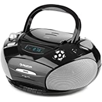 auna RCD 220 Boombox Radio CD • Minicadena compacta • Reproductor de CD y Cassette •