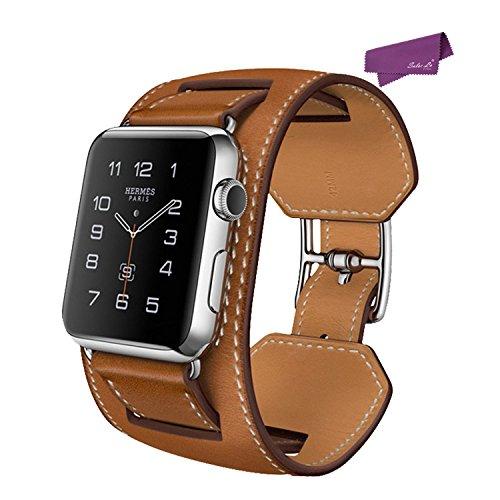 SalesLa Inteligente Venda de Reloj del reloj para Apple iWatch 38MM Correa de Cuero Genuino de la Venda de Reloj ( brown)