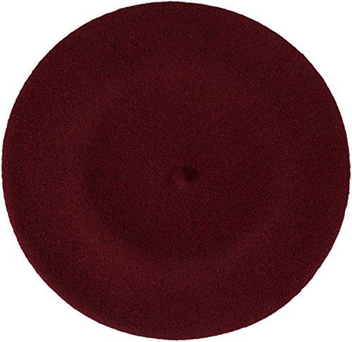 LOEVENICH Damen Baskenmütze Wollbaske Künstler-Kappe aus Reiner Schurwolle - 14 Farben