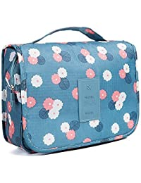 SUHAV Multifunctional Travel Toiletry Kit Cosmetic Bags Makeup Pouch Storage Organizer Case for Womens Grooming Kit Storage - Multicolor