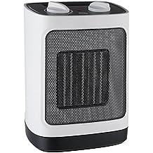 Pro Breeze 2000 W Mini Ventilador Calefactor Estufa de Cerámica - Oscilación automática y 2 ajustes de calor, blanco