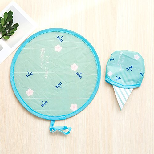 yhlve Cartoon Hand Fan – Aufhängen Tragbare Cartoon, Zusammenklappbar Hand Fan Sommer Nylon Runde Form Mini Fan, Polyester, 02, 20 cm