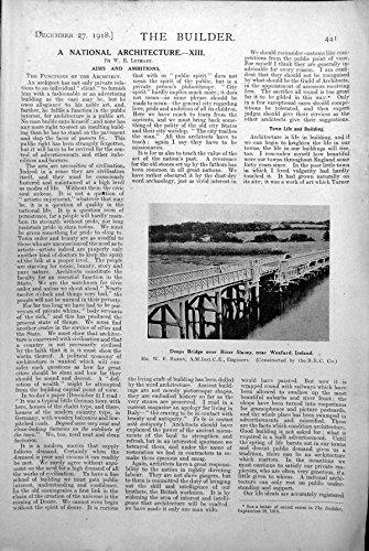 Imprima el Puente de los Deeps Sobre el Río Slainey Cerca de Wexford Irlanda 1918 441L215