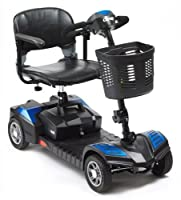Scout Portable 4mph Travel Car Boot Mobility Scooter Blue
