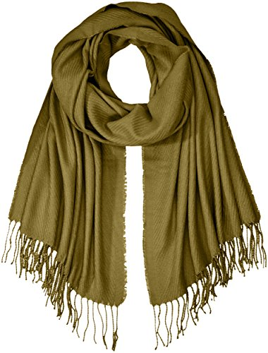 PIECES Damen Schal PCKIAL Long Scarf NOOS, Grün (Dark Olive), One Size