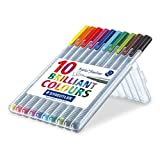 Enlarge toy image: Staedtler 334 Triplus Fineliner Superfine Point Pens, 0.3 mm - Assorted Colours, Pack of 10 -  preschool activity for young kids