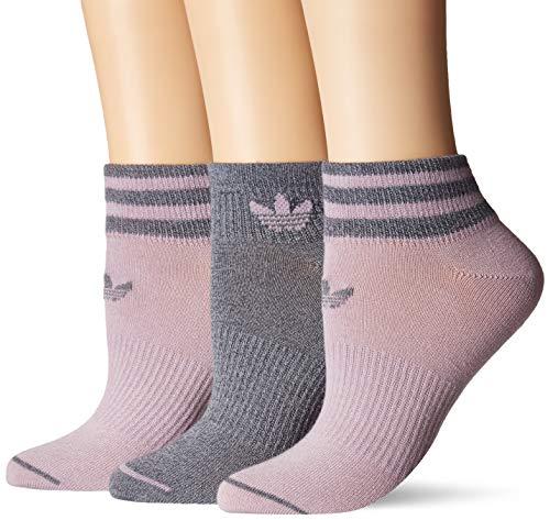 adidas Women's Originals Low Cut Socks (3-Pack), Soft Vision Purple/Onix - Light Onix Marl, Medium - Adidas Womens Low Cut Sock