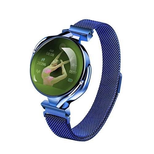 MinusK 099 IP67 Fitness Tracker Smart Watch Schrittzähler Uhr Smart Armband mit Kalorienzähler Herzfrequenz Schlaf Tracker Physiologische Erinnerung für Frauen Anruf SMS Push für Android iOS