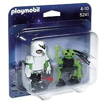 DuoPack Agent spatial et robotSet de deux personnages, un astronaute et un alien